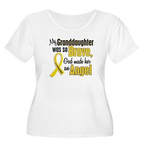 Angel 1 GRANDDAUGHTER Child Cancer Women's Plus Si