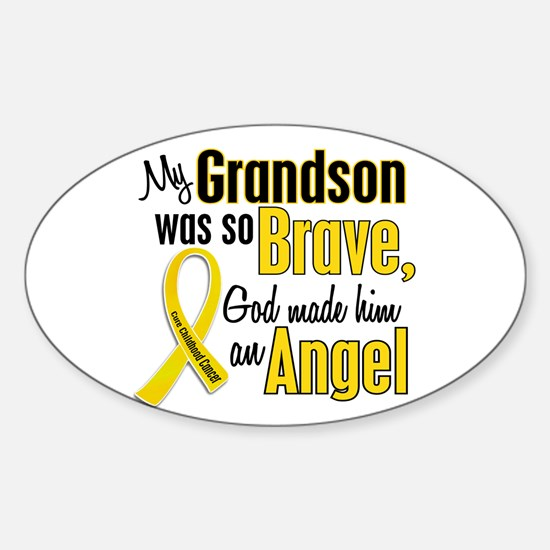 Angel 1 GRANDSON Child Cancer Oval Decal