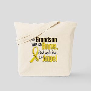 Angel 1 GRANDSON Child Cancer Tote Bag