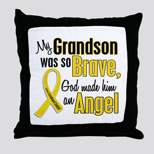 Angel 1 GRANDSON Child Cancer Throw Pillow
