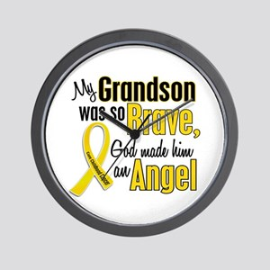 Angel 1 GRANDSON Child Cancer Wall Clock