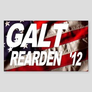 Galt Rearden 2012 Flag Rectangle Sticker