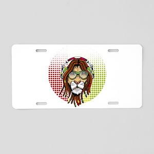 Rastafari Lion Aluminum License Plate