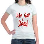 John Galt is Dead Jr. Ringer T-Shirt