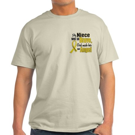 Angel 1 NIECE Child Cancer Light T-Shirt