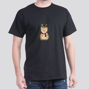 Cute Hedgehog with Reindeer Hair band T-Shirt