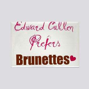 Edward Prefers Brunettes Rectangle Magnet