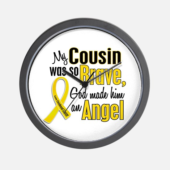 Angel 1 COUSIN Child Cancer Wall Clock