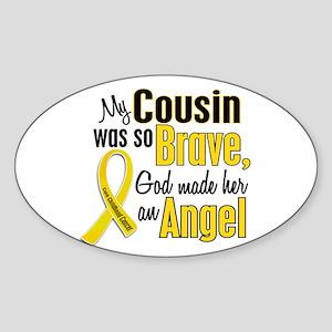 Angel 1 COUSIN Child Cancer Oval Sticker