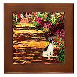 Path / Rat Terrier Framed Tile