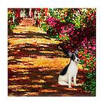 Path / Rat Terrier Tile Coaster