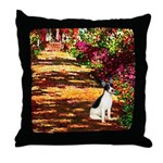 Path / Rat Terrier Throw Pillow