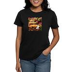Path / Rat Terrier Women's Dark T-Shirt