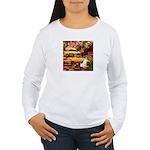 Path / Rat Terrier Women's Long Sleeve T-Shirt