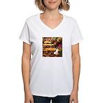 Path / Rat Terrier Women's V-Neck T-Shirt