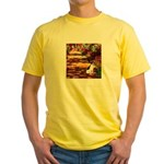 Path / Rat Terrier Yellow T-Shirt