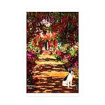Path / Rat Terrier Sticker (Rectangle 10 pk)
