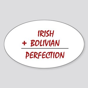 Irish + Bolivian heritage Oval Sticker