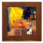 Cafe / Rat Terrier Framed Tile