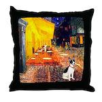 Cafe / Rat Terrier Throw Pillow