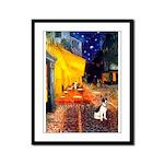 Cafe / Rat Terrier Framed Panel Print