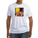 Cafe / Rat Terrier Fitted T-Shirt