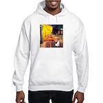 Cafe / Rat Terrier Hooded Sweatshirt
