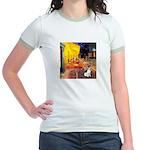 Cafe / Rat Terrier Jr. Ringer T-Shirt