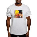 Cafe / Rat Terrier Light T-Shirt