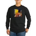 Cafe / Rat Terrier Long Sleeve Dark T-Shirt