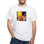 Cafe / Rat Terrier White T-Shirt