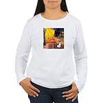 Cafe / Rat Terrier Women's Long Sleeve T-Shirt