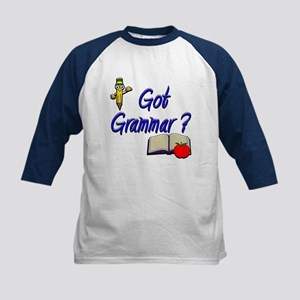 Got Grammar ? Kids Baseball Jersey