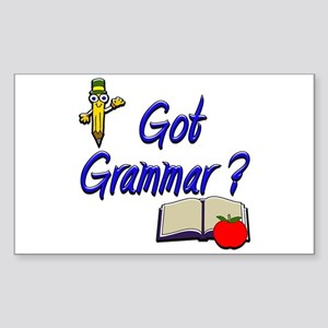 Got Grammar ? Rectangle Sticker