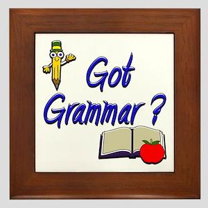 Got Grammar ? Framed Tile