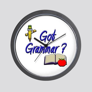 Got Grammar ? Wall Clock