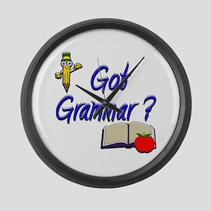 Got Grammar ? Large Wall Clock