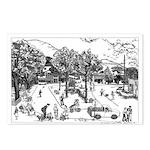 Woodstock Village Green Postcards (package Of 8)