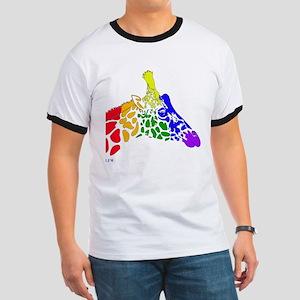 Rainbow Giraffe Ringer T