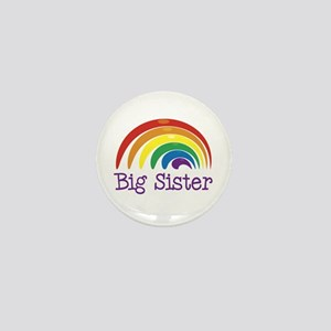 Big Sister Rainbow Mini Button