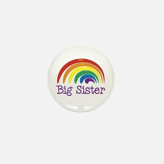 Big Sister Rainbow Mini Button