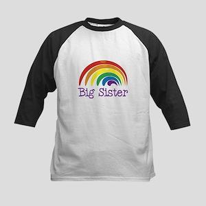 Big Sister Rainbow Kids Baseball Jersey