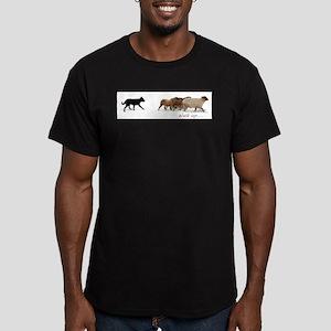 Walk up... Men's Fitted T-Shirt (dark)