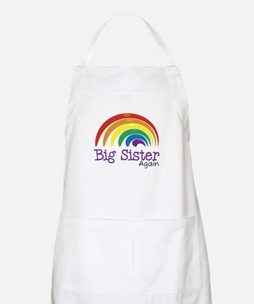 Big Sister Again Rainbow BBQ Apron