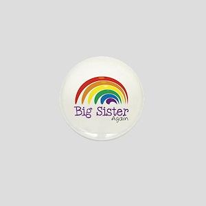 Big Sister Again Rainbow Mini Button