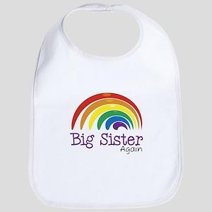 Big Sister Again Rainbow Bib