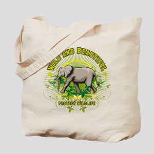 Wild Elephant Tote Bag
