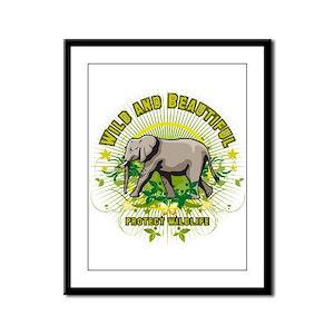 Wild Elephant Framed Panel Print