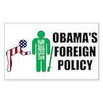 Obama Bow Rectangle Sticker 10 pk)