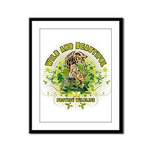 Wild Tiger Framed Panel Print